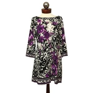 WHITE HOUSE BLACK MARKET tunic stretch floral L